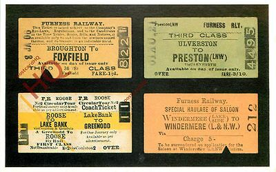 Postcard: FURNESS RAILWAY, SELECTION OF TICKETS [DALKEITH]