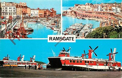 Postcard: RAMSGATE (MULTIVIEW) SRN4 SWIFT AND SURE HOVERCRAFT