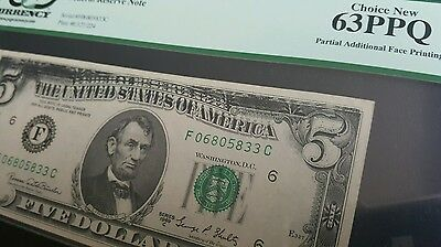 Incredibly Scarce Partial Additional Face Printing on 1969 $1 PCGS 63PPQ ERROR