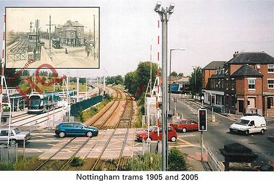 Postcard: NOTTINGHAM TRAMS, 1905 AND 2005