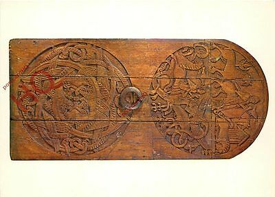 Postcard: National Museum Of Iceland, Carved Church Door From About 1200 A.D.