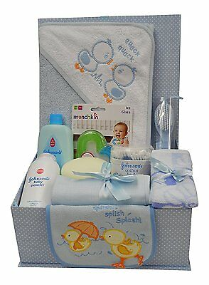 Baby Boy Hamper Gift Box - Baby Shower Gifts Newborn Gifts