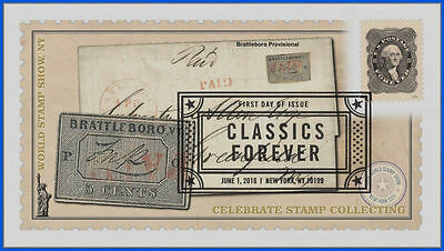 5079 US Classics First Day Cover 2016 #1120 Brattleboro Provisional Single wCovr