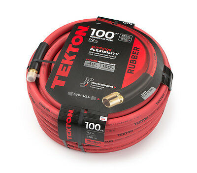 TEKTON 46368  100 ft. x 1/2 in. I.D. Rubber Air Hose (250 PSI) Made in the USA