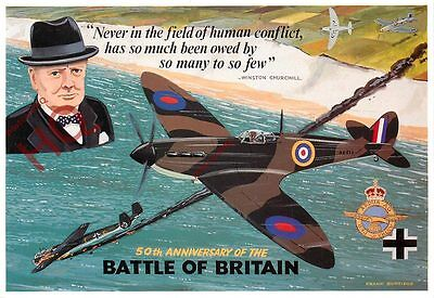 Postcard: WW2, BATTLE OF BRITAIN, WINSTON CHURCHILL [MAYFAIR]