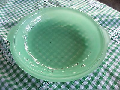 Vintage Green Pyrex Agee Pie Dish or casserole dish cover 1950s