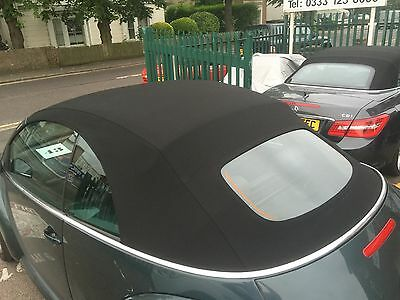 VW Beetle 2002-2010 New Black Mohair Hood with Heated Glass Window