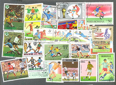 Football 300 all different stamps collection