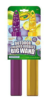 Crayola Giant Outdoor Coloured Bubbles - Giant Bubble Wand (2 Pack)