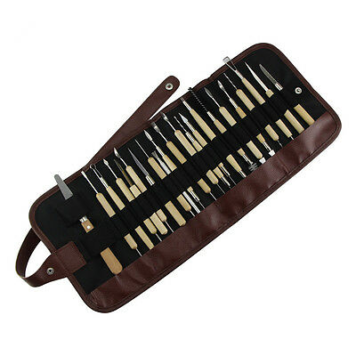 22PCS/Set  Clay Sculpture Tool Pottery Polymer Clay Sculpting Stainless Steel  P