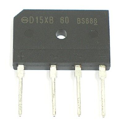 4pcs 600V 15Amp D15XB60 - Single Phase Bridge Rectifier Diode - 600 volt 15a