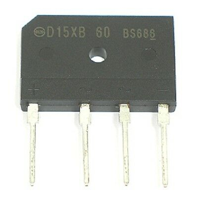 4pcs D15XB60 600V 15Amp Single Phase Bridge Rectifier Diode 600 volt 15a