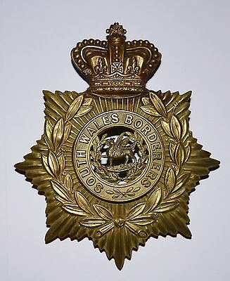 Victorian South Wales Borderers Helmet Plate..SWB Previously 24th foot Regt