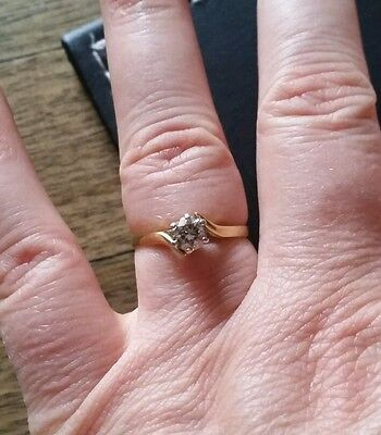 18ct Gold and Diamond Solitaire Ring