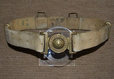 VALISE 1882 Pattern Buff Leather Belt Coldstream Guards Buckle Pre Slade Wallace