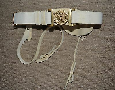 Edwardian OFFICERS NCO Belt British Army Buff Leather Slade Wallace