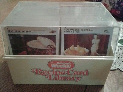 Australian Women's Weekly Recipe Card File Box Retro Cooking Collectable