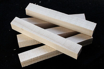 Five native wood blanks for pen turning and small woodwork projects - Sycamore