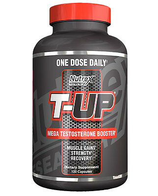 Nutrex T-Up (New Formula) 120 Capsules Mega Testosterone Booster Support