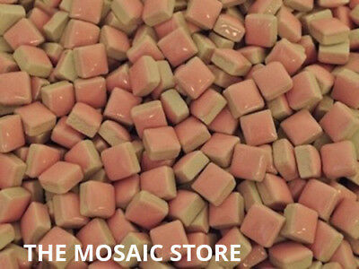 Pink Square Ceramic Tiles 1cm - Mosaic Art & Craft Supplies