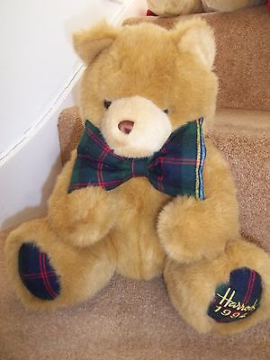 SUPERB - HARRODS FOOT DATED HIGHLAND TARTAN 1994 TEDDY BEAR 23rd BIRTHDAY GIFT