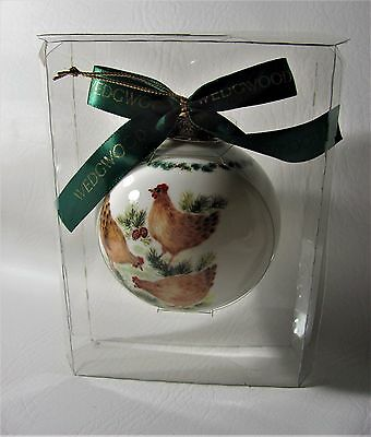 Wedgwood Three French Hens 12 Days Of Christmas Ball Ornament