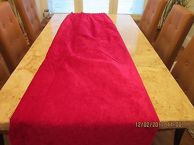 Beautiful Hand Made Chenille Lined Curtains Colour Cerise Heavy Curtain Material
