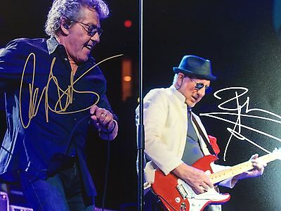 Authentic The Who Roger Daltrey And Pete Townsend Hand signed photo 8 x 10 w COA