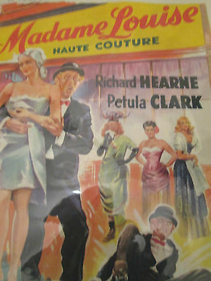 1950s Original film poster Madame Louise Haute Couture rare