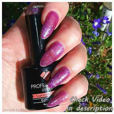 *427* VB™ Line Purple Plum Glitter Colour UV/LED Soak Off Nail Gel Polish