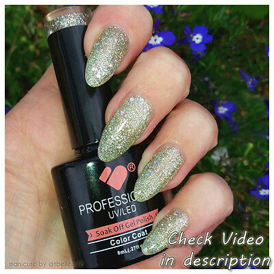 *420* VB™ Line Light Grey Silver Glitter Colour UV/LED Soak Off Nail Gel Polish