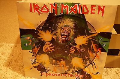 """Iron Maiden  No Prayer for the Dying   12"""" Vinyl LP Picture Disc."""
