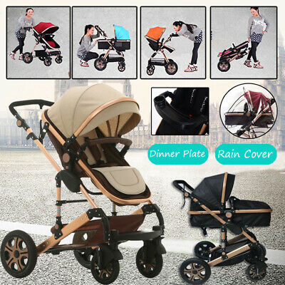 9 in1 Baby Stroller Travel Pram & Bassinet Newborn Carriage Foldable Pushchair