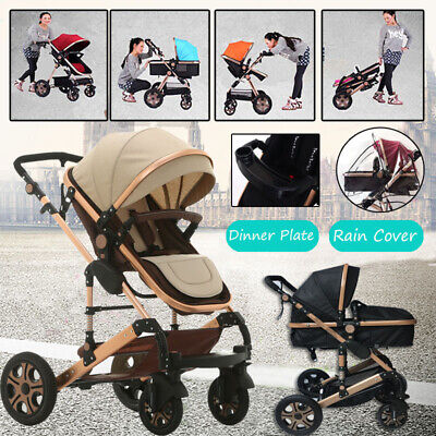 Baby Stroller Pram & Bassinet 4 in 1 Newborn Baby jogger Folding Pushchair Trave