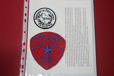 2 Texas Highway Patrol Shoulder Patches