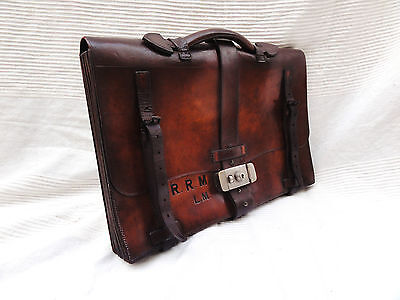 A Rare Victorian Vintage Tan Briefcase by Fisher