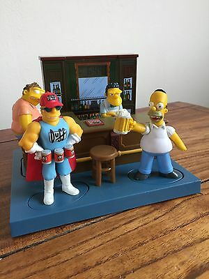 Rare Simpsons 'moes Tavern' Alarm Clock - Complete And Collectable
