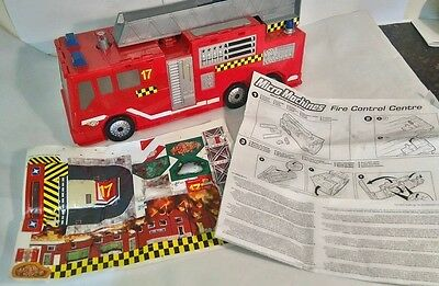 Micro Machines Fire Engine Truck Play Set  Hasbro 2002