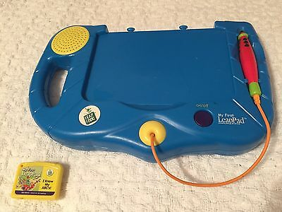 LeapFrog My First LeapPad Electronic Learning System Blue & Leap's I Know My Abc
