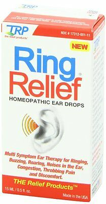 TRP Ring Relief Homeopathic Ear Drops 0.5 fl oz (15 ml) - EXP 8/17