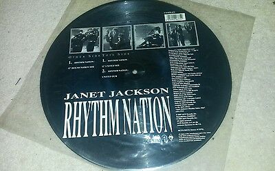 Janet jackson Picture disc Rhythm nation vinyl record