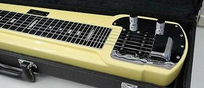 Very Rare! Fender Japan DLX-6 Steel Guitar Basswood Body 29f w/Stand Case
