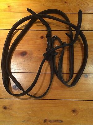 Mark Todd Rubber Reins Brown Full Size Havana