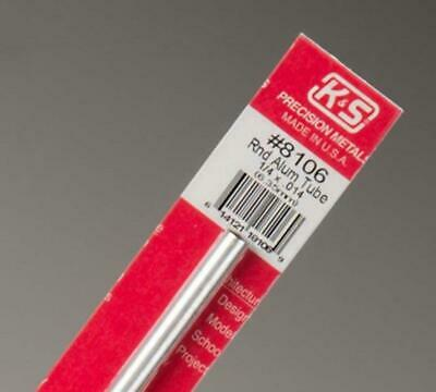 K&S Aluminum Tube 1/4Inch (1pc). KS 8106