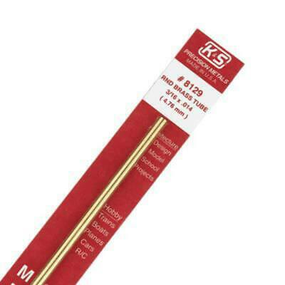 K&S Round Brass Tube 3/16Inch (1pc). KS 8129