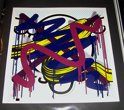 DFACE Over Me Over You Signed limited print -/30 2012 D*FACE  *MINT*