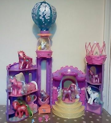 My little pony Vintage Magical light and sound castle plus ponies Hasbro
