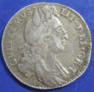 1696 6d William III silver Sixpence in a very respectable grade