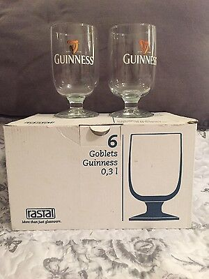 BRAND NEW Guinness Irish Stout Glass/Goblet Glassware Collectible Set Of 6