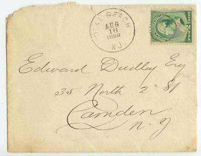 1889 Deal Beach New Jersey 1874-1895 Monmouth County to Edwin Dudley Camden